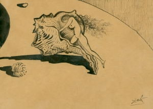 Salvador Dali, preparatory sketch for Destino