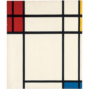 Piet Mondrian, Composition of Red, Blue, Yellow, and White: Nom II 1939. Museum of Contemporary Art, Los Angeles