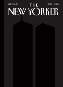 The famous New Yorker cover post 9/11, by Art Spiegelman and Francoise Mouly