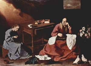 Christ and the Virgin at the House at Nazareth, aka The Holy House of Nazareth, 1630. The Cleveland Museum of Art
