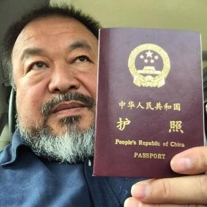 Ai Weiwei posted this photo on social media today.