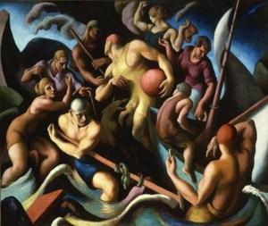 Thomas Hart Benton, People of Chilmark (Figure Composition) 1920, Hirschhorn Museum and Sculpture Garden