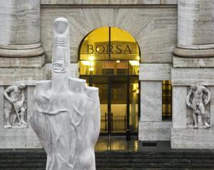 "Maurizio Cattelan, ""L.O.V.E."" 2010. Installation view, Milan"