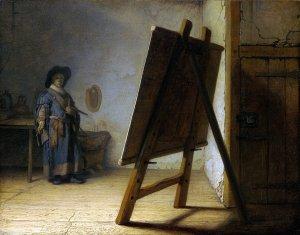 Rembrandt van Rijn, The Artists in his Studio (c. 1628),  Collection of the Museum of Fine Arts, Boston