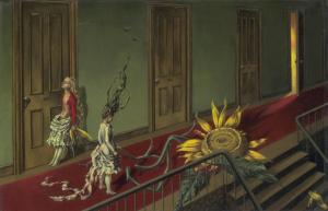 Eine Kleine Nachtmusik 1943 Dorothea Tanning 1910-2012 Purchased with assistance from the Art Fund and the American Fund for the Tate Gallery 1997 http://www.tate.org.uk/art/work/T07346