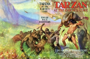 Jacket to Tarzan at the Earth's Core, by Edgar Rice Burroughs, first published 1930 (this image if of a later reprint)