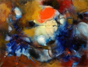 Une Lune dans l'autre, 1960, an example of her more abstract works