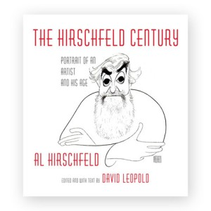 The front cover, featuring a classic Hirschfeld self-portrait.