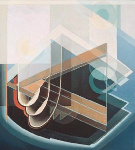 Abstract #7, c. 1939 Harris' numbering seems to have been random; this is not the 7th abstraction he painted.