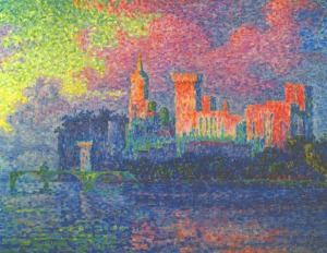 Paul Signac - The Papal Palace, Avignon, 1900, Musee d'Orsay, Paris