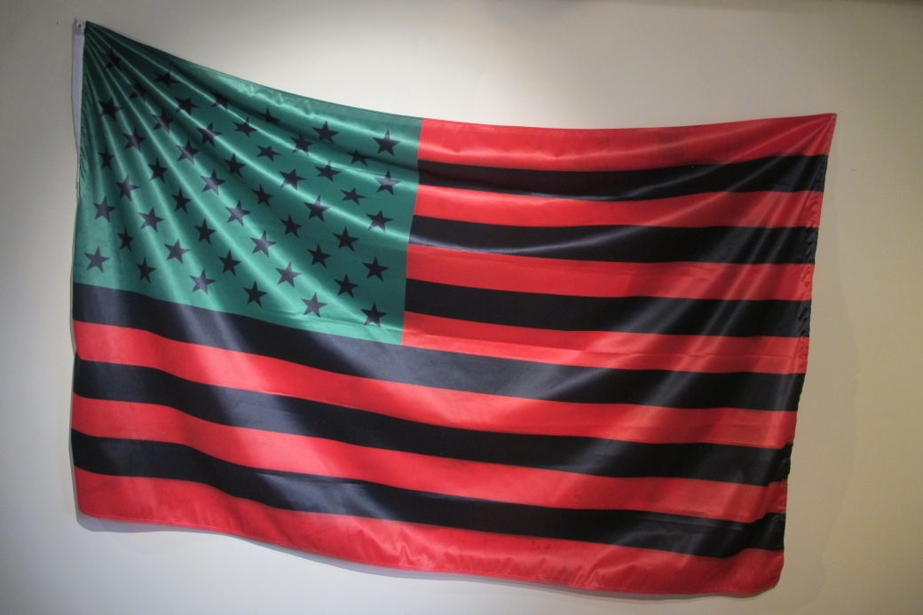 david hammons african american flag_my version