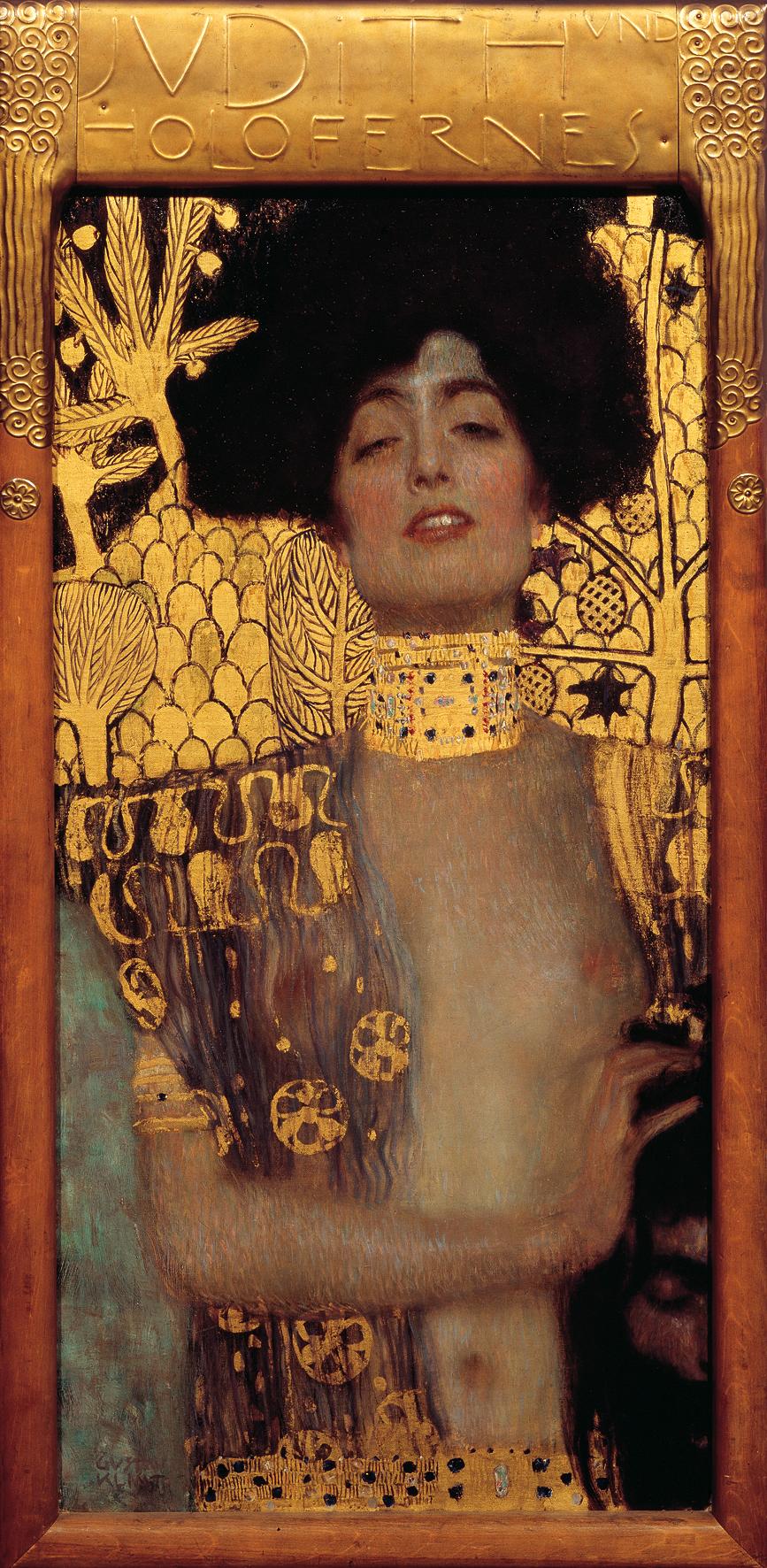 Gustav KlimtJudith I, 1901 Öl auf Leinwand 84 x 42 cm