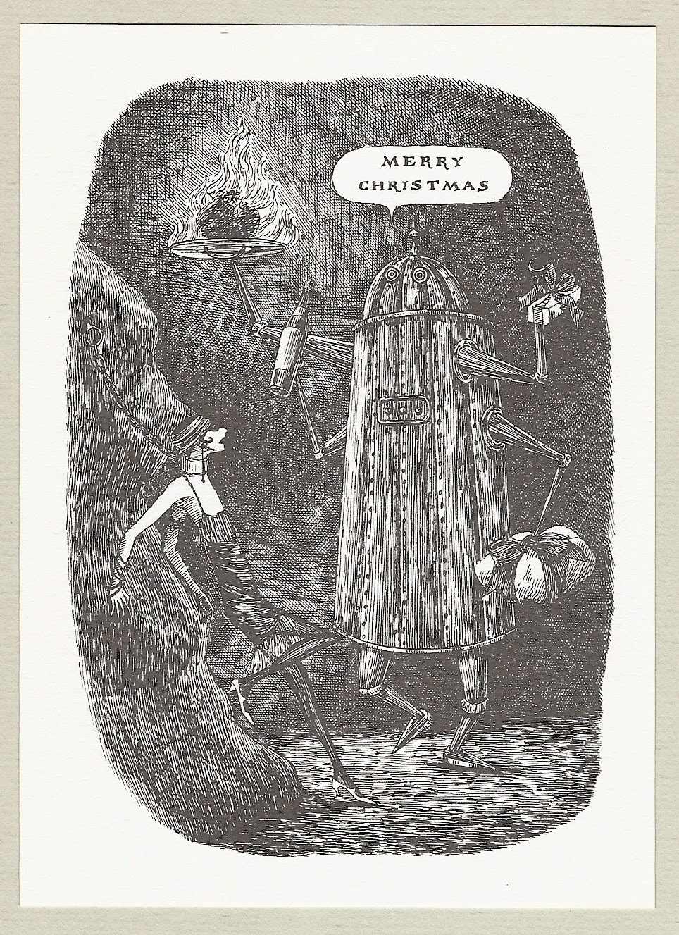 Edward Gorey Merry Christmas Card